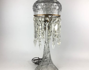 Vintage Crystal Dome Table Lamp