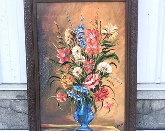 Vintage Oil Painting In Ornate Frame