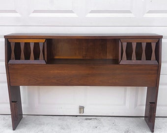 Mid-Century Walnut Headboard- Queen Bed