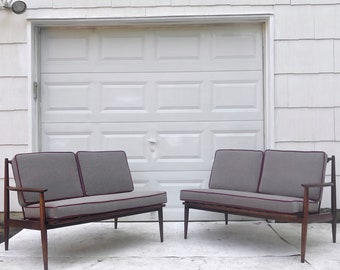 Md-Century Modern Two Piece Corner Sofa