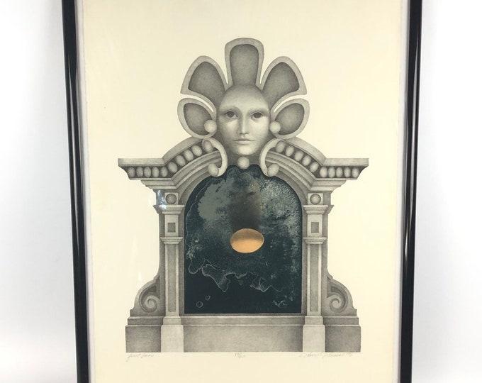 "Vintage Artist Print ""First Form"" by C. David Thomas c.1976"