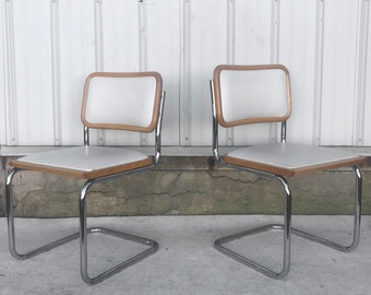Vintage Modern Cesca Style Dining Chairs- a Pair