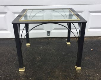 Mid-Century Style Chrome Lamp Table by Design Institute of America
