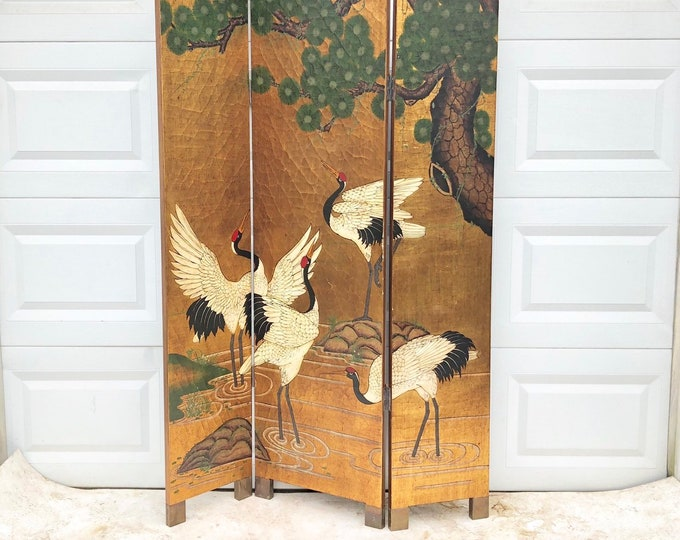 Vintage Modern Folding Screen Room Divider