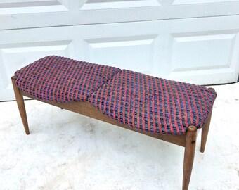 Vintage Teak Bench- by John Stuart