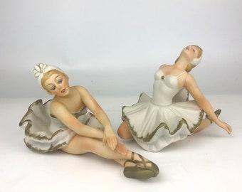 Vintage Porcelain Ballet Dancer Figurines- Art Deco Style