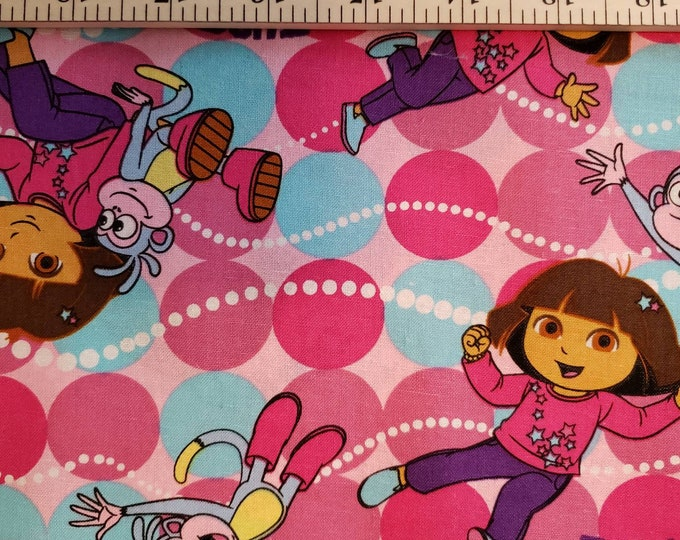 Dora the Explorer 100% Cotton Fabric BTY
