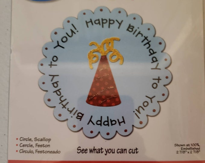 Sizzix Happy  Birthday to You Die Cut