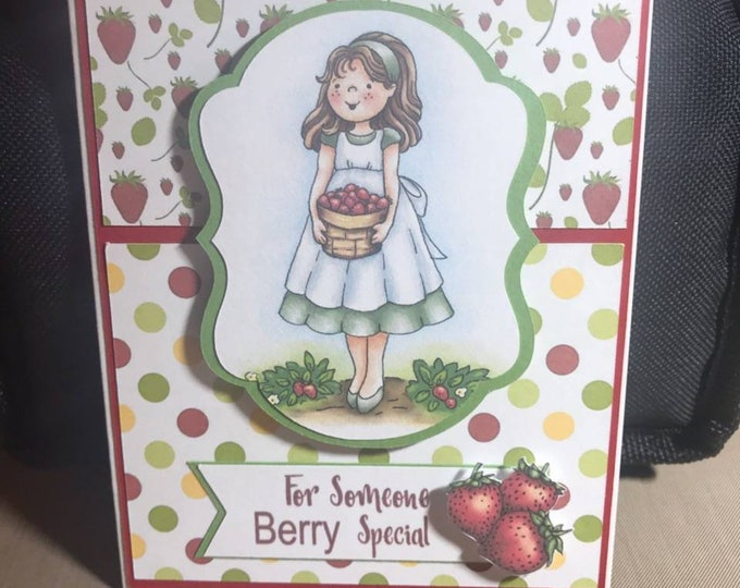 "Handmade ""For Someone Berry Special"" Greeting Card"