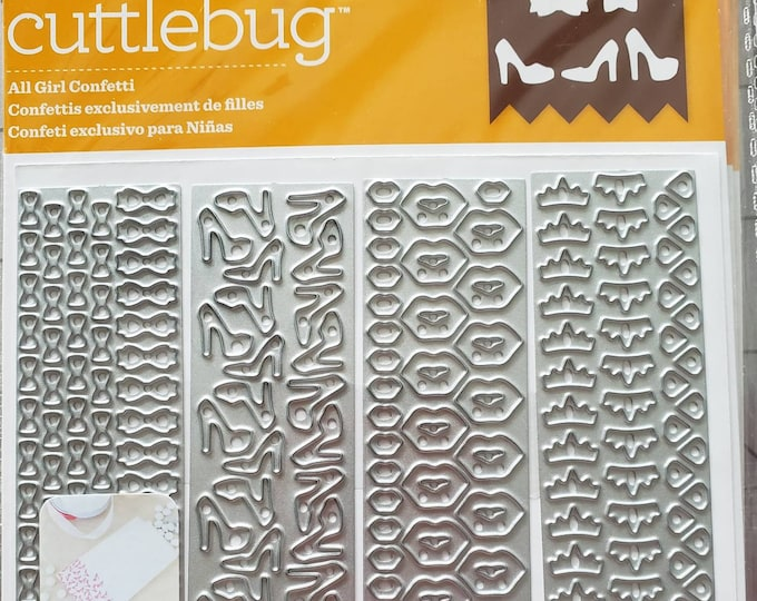 Cuttlebug All Girl Confetti Cut & Embossing Dies