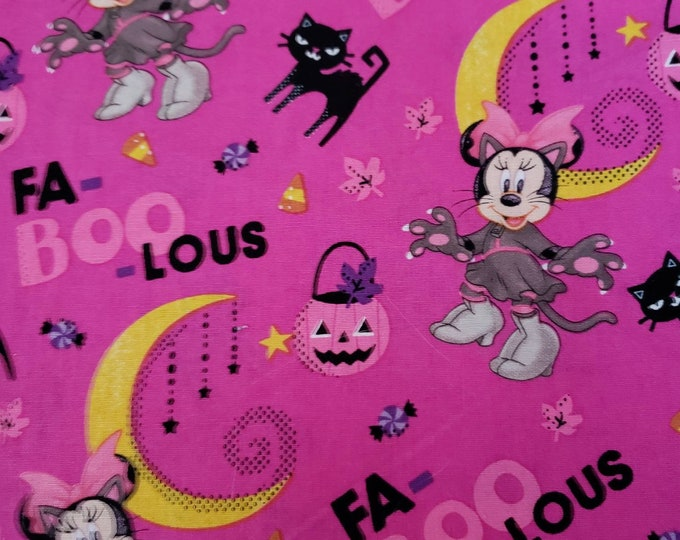 Disney Minnie Mouse Halloween  Cotton Fabric BTY