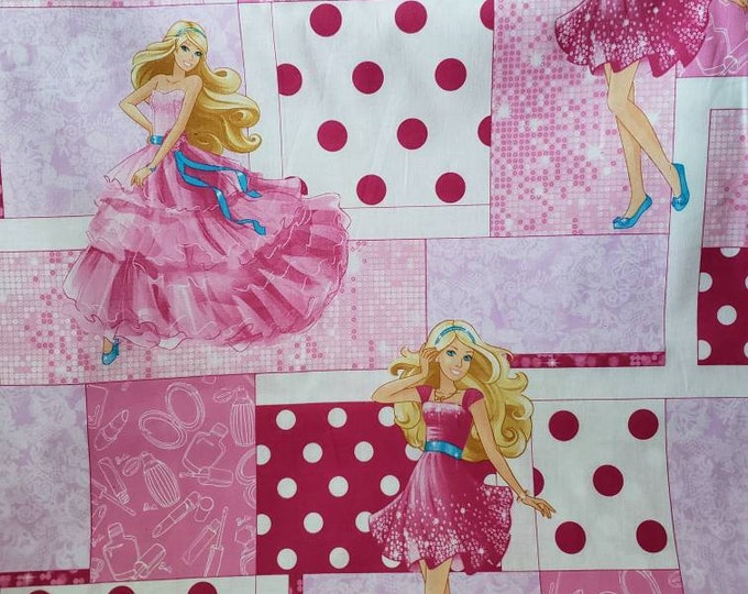 Barbie 100% Cotton Fabric BTY