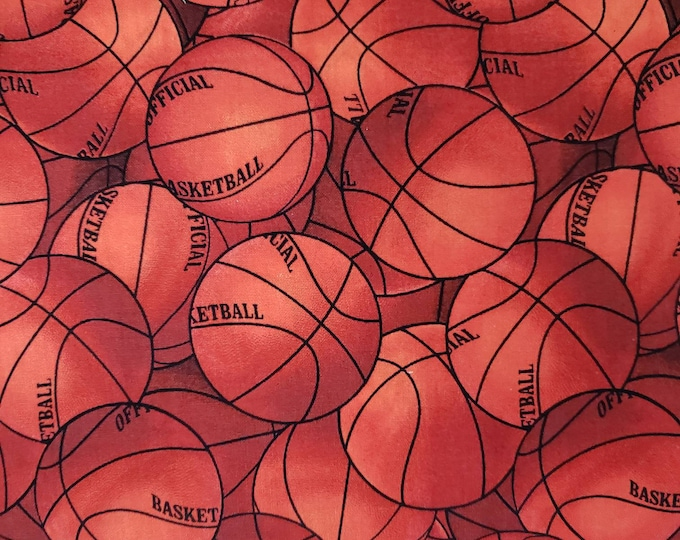 Basketball 100% Cotton Fabric BTY