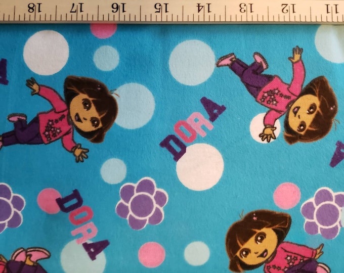 Dora the Explorer 100% Flannel Cotton Fabric