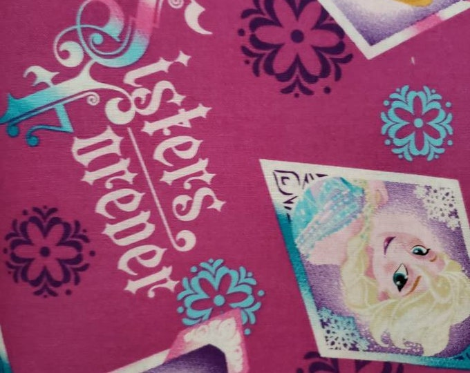 Disney Frozen Elsa Anna Forever Sisters 100% Cotton Fabric BTY