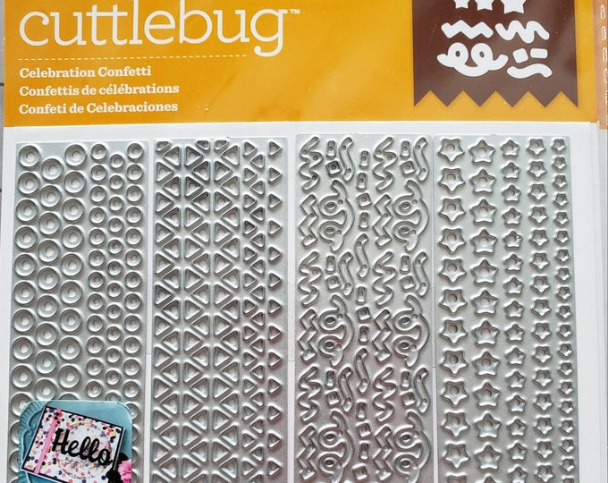 Cuttlebug Celebration Confeffi Cut & Embossing Dies