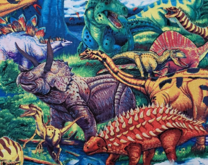 Dinosaurs 100% Cotton Fabric BTY