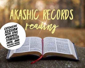 EXTENSIVE Akashic Records Audio Reading - Includes Your Soul Purpose, Starseed/Soul Origination, One Question & Healing Work!
