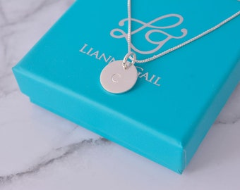 Sterling Silver, Initial Pendant, Letter Necklace, Initial Necklace, Custom Letter Necklace, Bridesmaid Gift, Stamped Letter Necklace