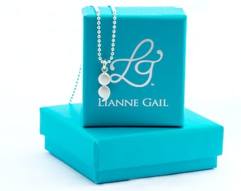 Mini Sterling Silver Semicolon Necklace, Semicolon Pendant, Mental Health, Resilient Necklace, Mental Health Awareness,  Brushed Semicolon