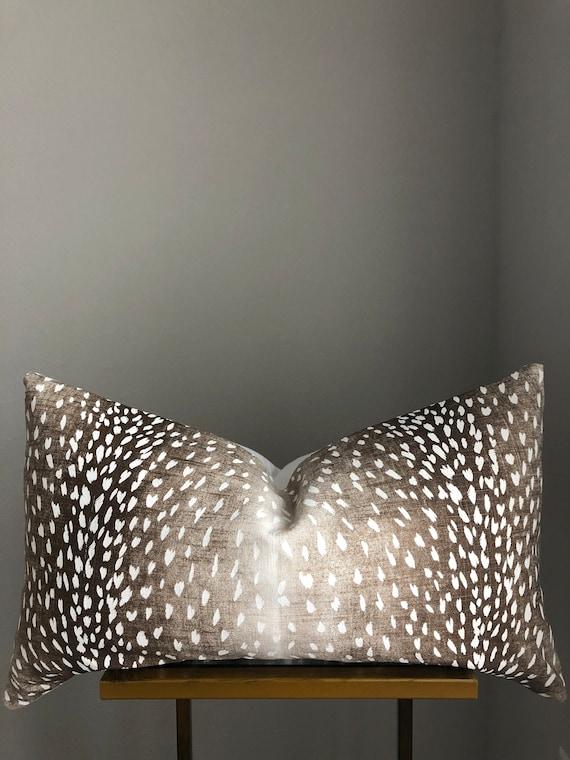 Dark Antelope Print Pillow Cover