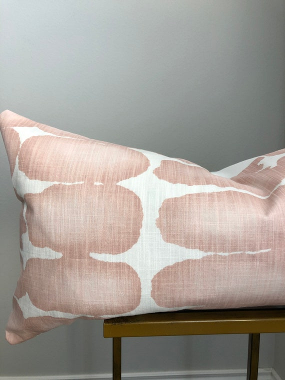 Rose Pink Geometric Pillow Cover