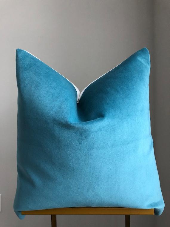 Bold Blue Velvet Pillow Cover