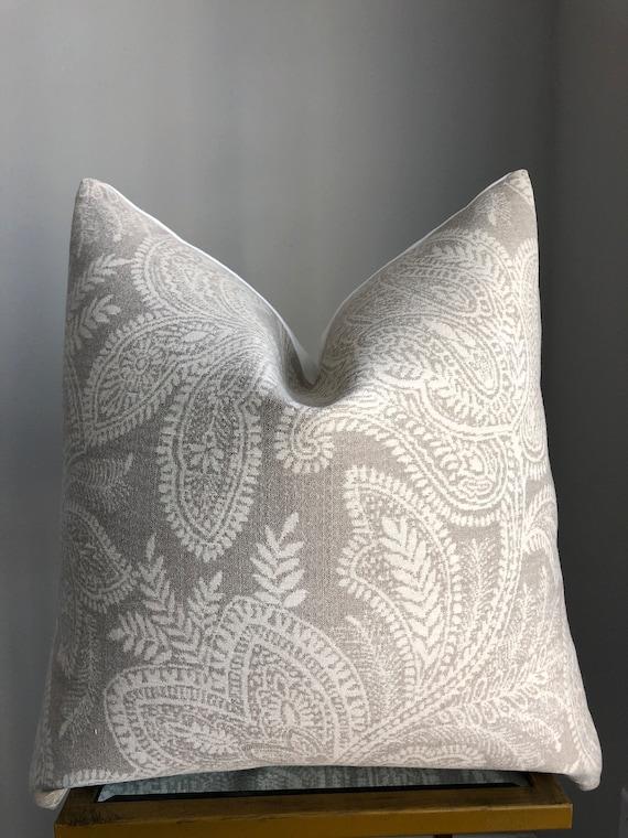 Paisley Print Neutral Pillow