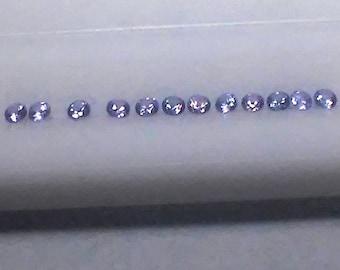 Lavender Sapphire 2.5mm Round 1.07cttw 12 Stone Lot Natural Sapphire Gem Supply