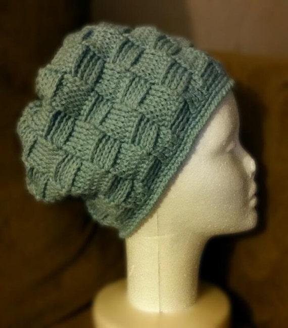 Chunky Basketweave Slouch Hat Crochet Pattern Etsy