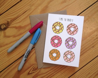 Time to Party  - Party Ring Greetings Card