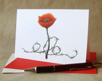 DONATE to Legacy - ANZAC Day poppy 'April Bloom' greeting card, proceeds go to veterans' charity