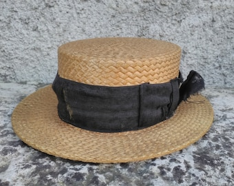d824516129870e French straw boater hat.