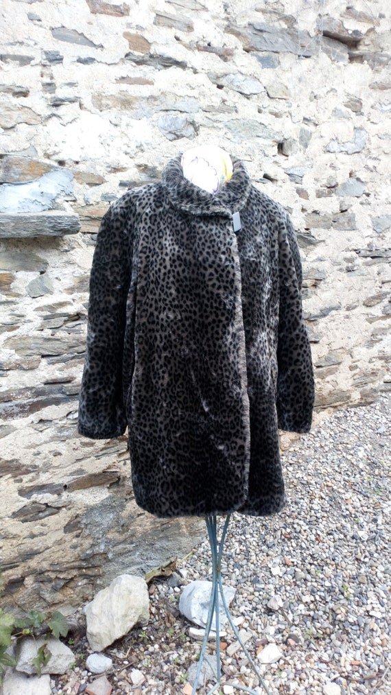 Michel Alexis, Paris, Faux/fake fur leopard skin f