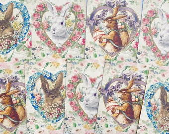 Happy Easter Bunny Card Making Crafting Craft Toppers Embellishments x 5