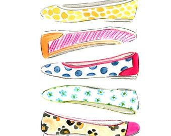 Fashion Clip Art, Printable Art, Instant Download Art, Fashion Illustration Print, Wall Art Prints, Wall Decor, Art Printables, Shoes