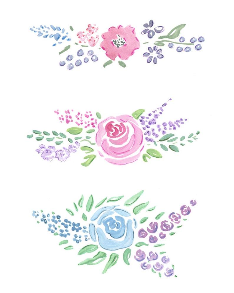 Floral Garlands Clip Art Flowers Clip Art Floral Clip Art Watercolor Flowers Watercolor Clip Art Flowers Watercolor Floral Banners