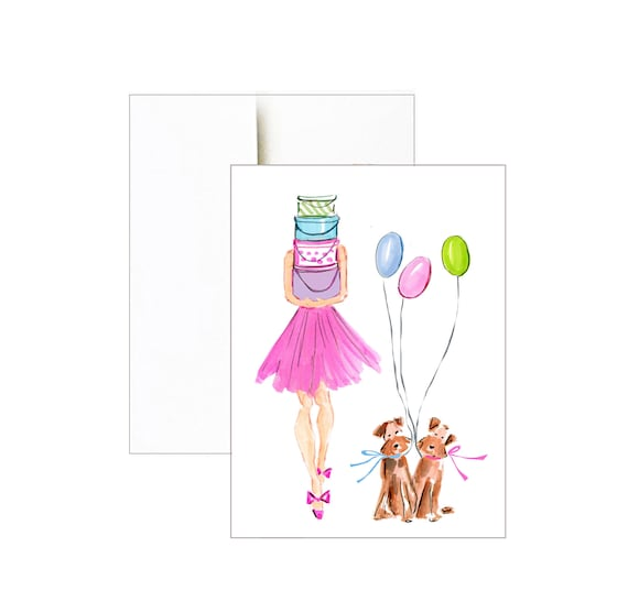 Happy Birthday Printable Printable Glamour Birthday Card Etsy