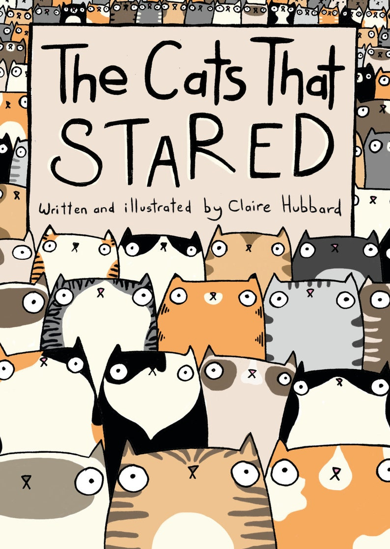 The Cats That Stared Comic Book by Claire Hubbard image 1