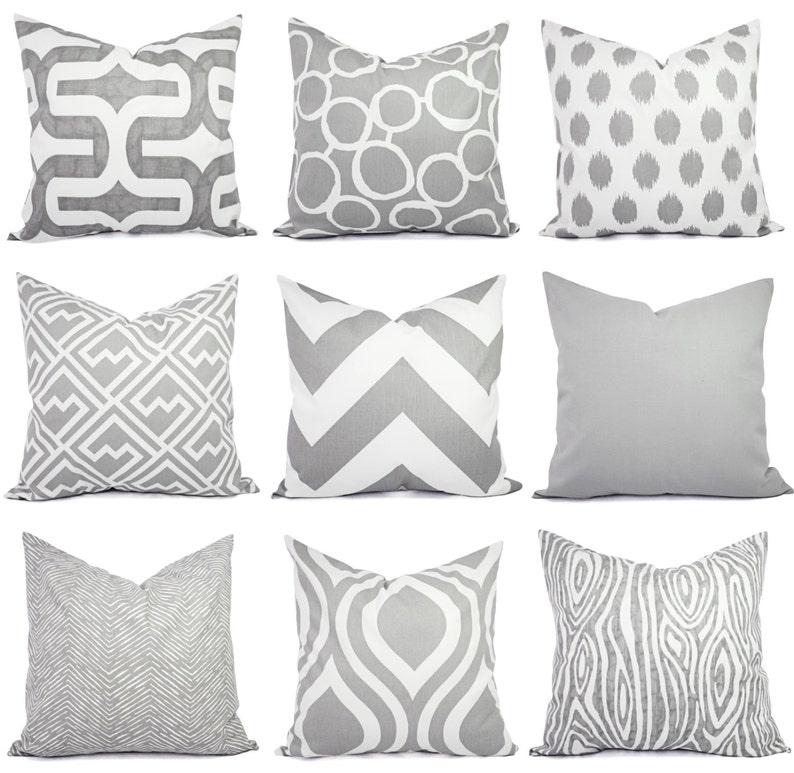 Throw Pillow Cover  Grey Pillow Cover  Grey Pillow Sham  image 0