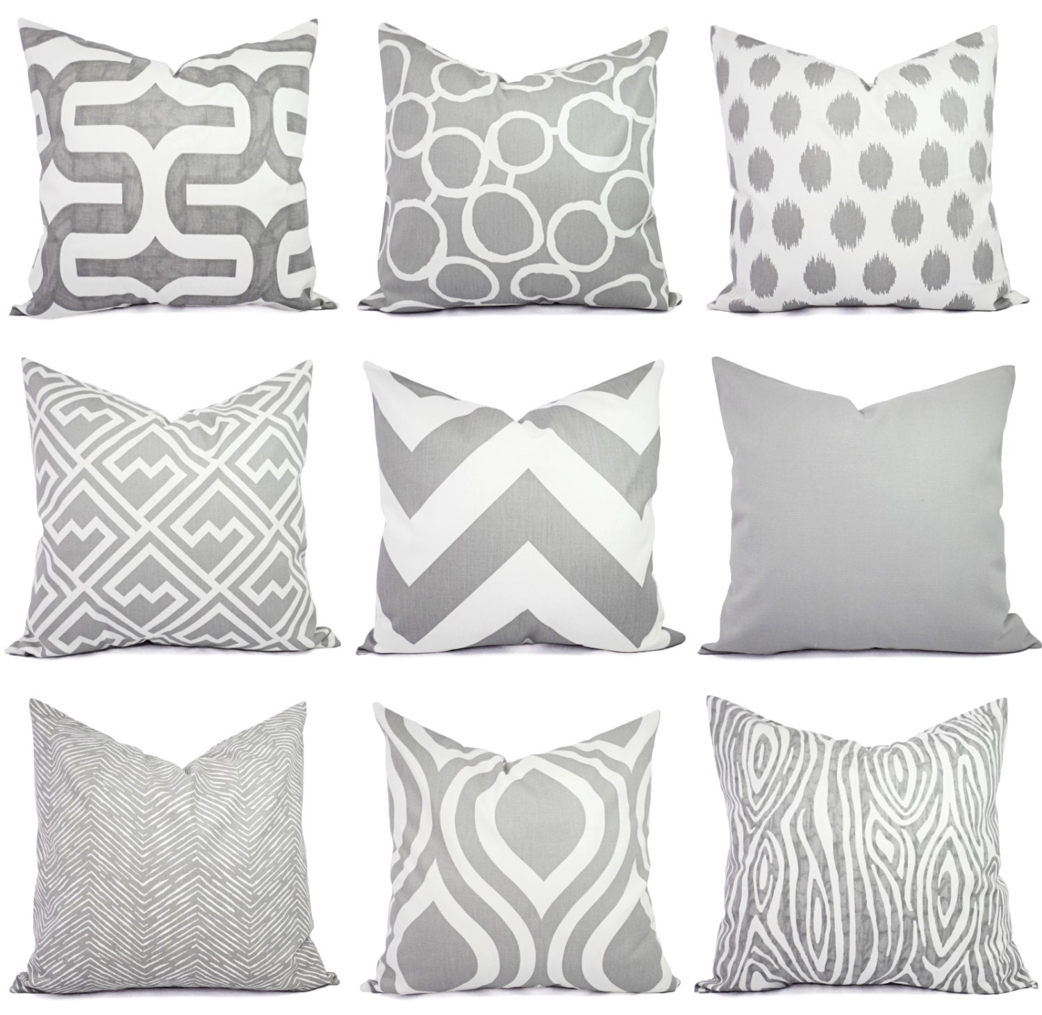 Gray Couch Pillows: Throw Pillow Cover Grey Pillow Cover Grey Pillow Sham