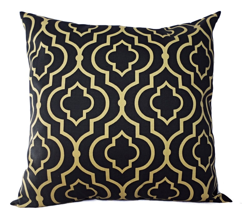 Two Decorative Pillow Covers Navy And Gold Throw Pillow Etsy