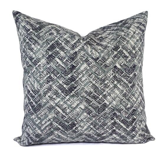 Navy Plaid Pillow Cover Blue Buffalo Check Pillow Cover Modern