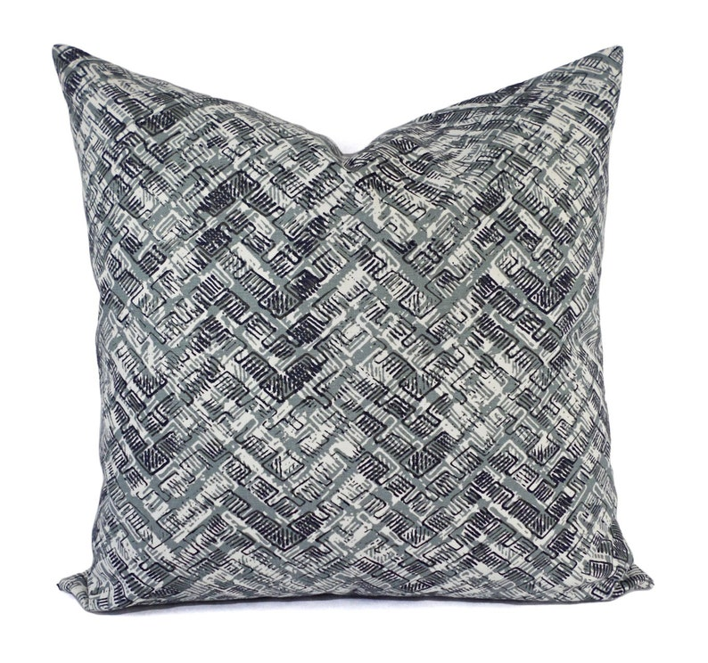 Surprising Two Pillow Covers Grey And Blue Throw Pillows Modern Pillow Cover Accent Pillow Sham Pillow Covers 12X16 12X18 14X14 16 X 16 Inch Caraccident5 Cool Chair Designs And Ideas Caraccident5Info