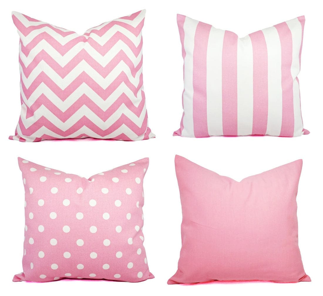 One Baby Pink Throw Pillow Decorative Throw Pillow Pastel   Etsy
