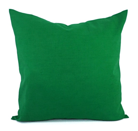 Solid Green Decorative Pillow Cover Dark Green Pillow Cover Etsy Custom Dark Green Decorative Pillows
