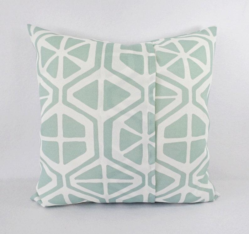 Blue Geometric Pillows Patio Pillows Outdoor Pillow Cover Custom Pillow Sham Two Outdoor Light Blue Pillows Blue Green Pillows