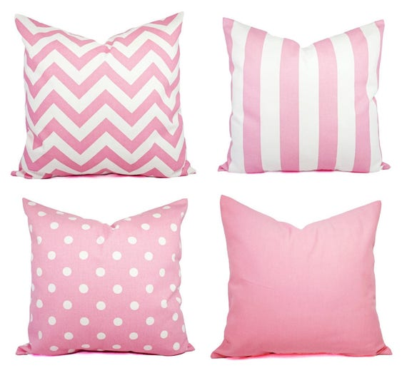 Baby Pink Throw Pillow Covers Pink Decorative Throw Pillow