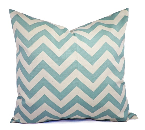 Pillow Covers 40 Blue Chevron Decorative Pillow Covers Light Etsy Fascinating Light Blue Throw Pillow Covers