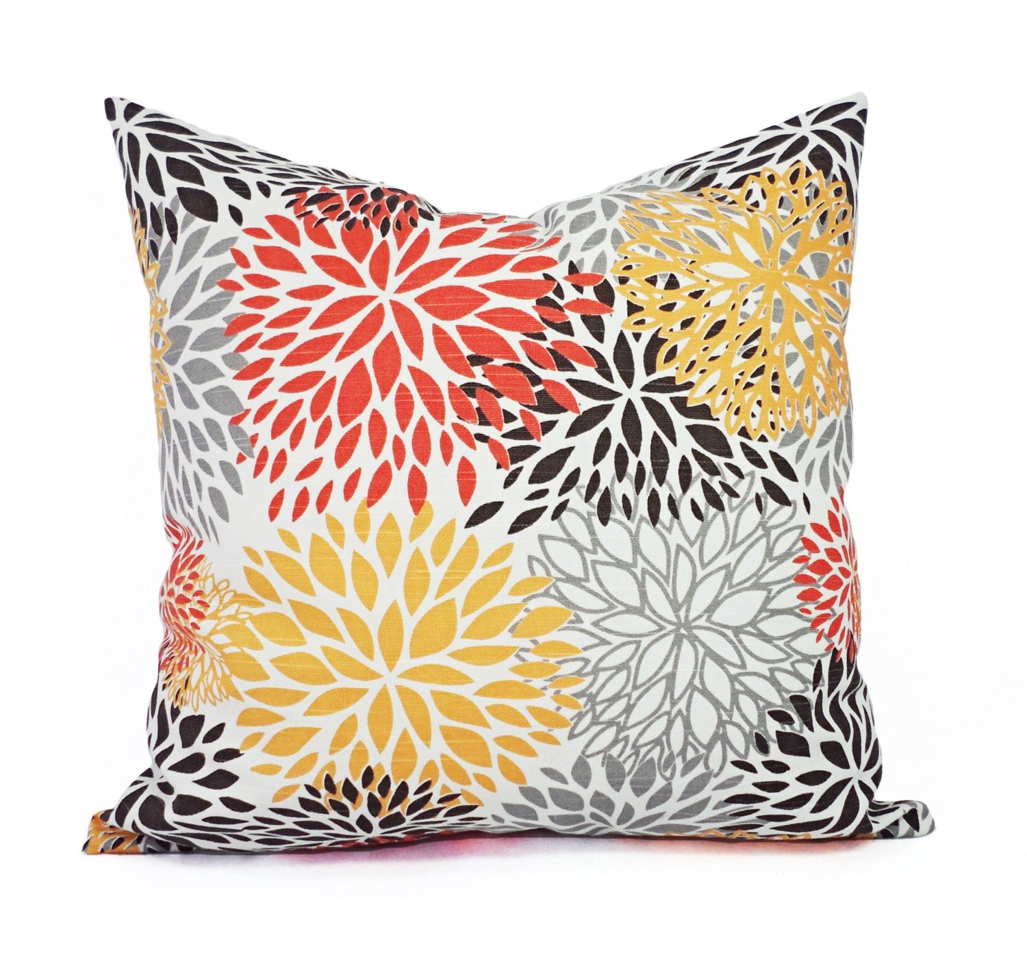 Two Orange And Brown Couch Pillows Orange Throw Pillow
